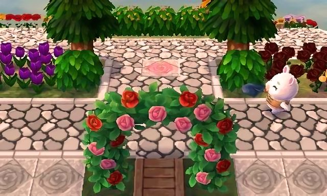 Town Inspiration Grand Rose Stone Walkway Acnl Paths
