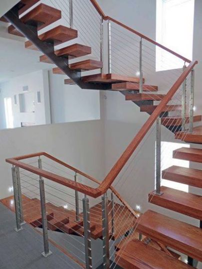 How do you deal with the angle of the stairs and the different lengths of the stairs? Stair components are custom fabricated to fit your particular situation. There is no field cutting required. #modern #timeless #design #stairs #stairrailing #railing