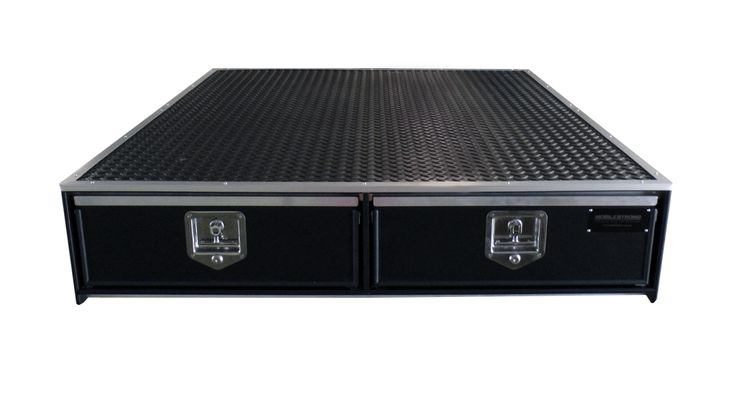 """Mid-Size Truck Bed Storage Drawer System - For small or compact pickup trucks. 42"""" W x 57"""" L x 10""""H Some Mid-Size models may include: Toyota Tacoma, Chevrolet Colorado, Nissan Frontier, Honda Ridgeline, GMC Canyon - Truck Bed Accessories - MobileStrong.net"""