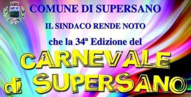 Carnevale di Supersano 34^ Edizione. Location: Piazza IV Novembre