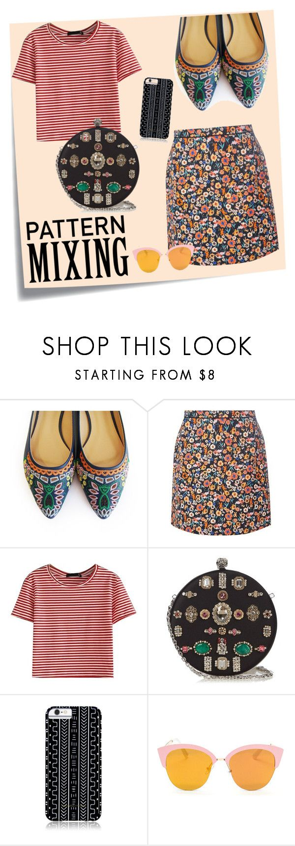 """""""Untitled #422"""" by neflaluna ❤ liked on Polyvore featuring Post-It, Dorothy Perkins, WithChic, Alexander McQueen, Savannah Hayes and patternmixing"""