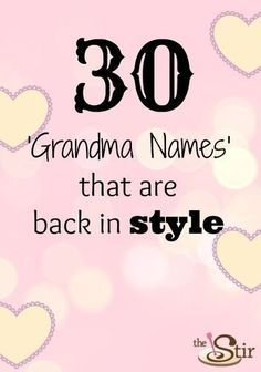 "Which ""grandma"" name for a girl is your favorite?http://thestir.cafemom.com/pregnancy/158333/30_old_time_grandma_names"