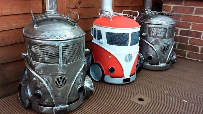 These VW Campervan Log Burners Are The Hottest Things You Can Buy Right Now - Volkswagen Car Art