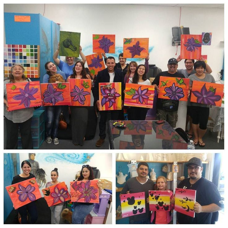 Paint N' Glaze's special canvas afternoon followed by an adult wine and paint night! Both events were definitely a great time. I had fun instructing you all and I'm looking forward to next month as well. A huge thanks is given to everyone that helped out and participated in creating their very own work of art! Also a big thanks to the owners of Paint N' Glaze for making this event possible and giving me this golden oppotinting to teach! Enjoy your one of a kind paintings ladies and…