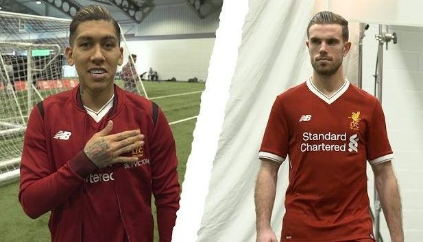 Video: Liverpool FC squad model new home kit for 2017/18