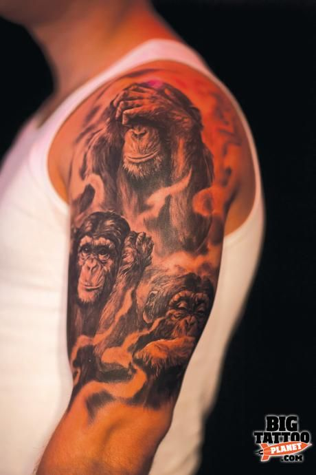 three wise monkeys tattoo designs - Google Search