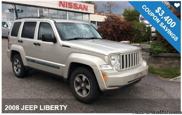 2008 JEEP LIBERTY / $3,400 IN COUPONS ! Big Savings available!!