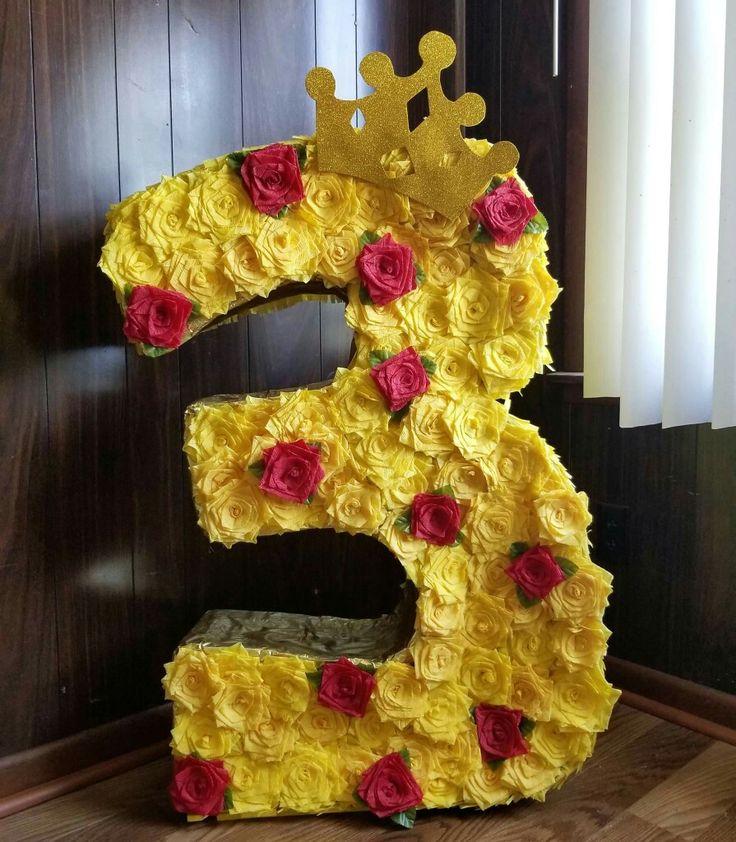 La bella y la bestia  Piñata  Rosas  The beauty and the beast party 3  Ideas