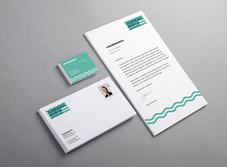 definitief ontwerp enveloppe, briefpapier en naamkaartjes