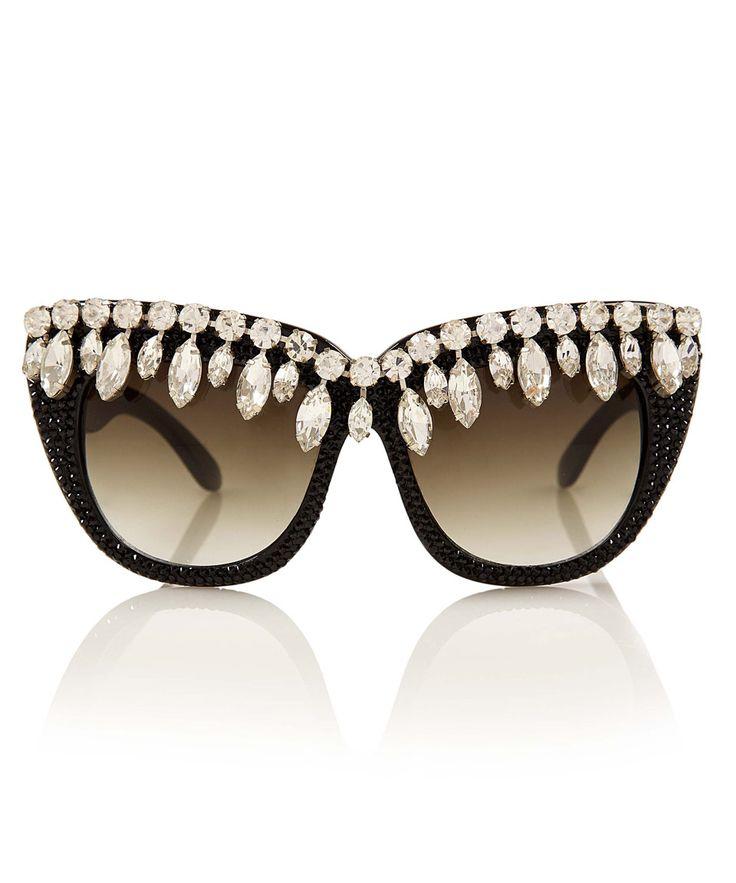 A-Morir Black Nico Crystal Sunglasses | Women's Designer Sunglasses by A-Morir | Liberty.co.uk