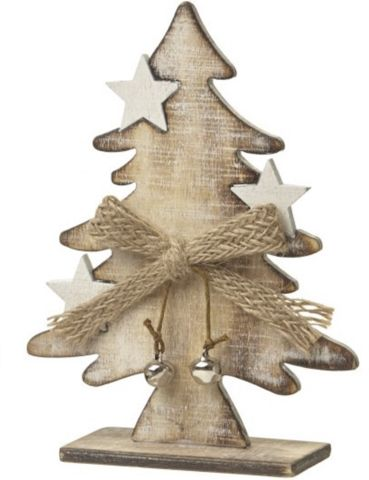 Wooden Tree with Stars