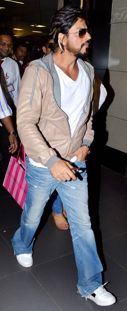 Shah Rukh Khan spotted at the airport.