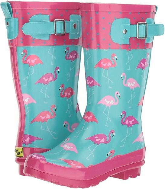 Flamingo rain boots Western Chief Kids - Classic Tall Fab Flamingo Girls Shoes A tropical oasis for the feet! Pink rain boots, blue rain boots, girls rain boots #affiliate