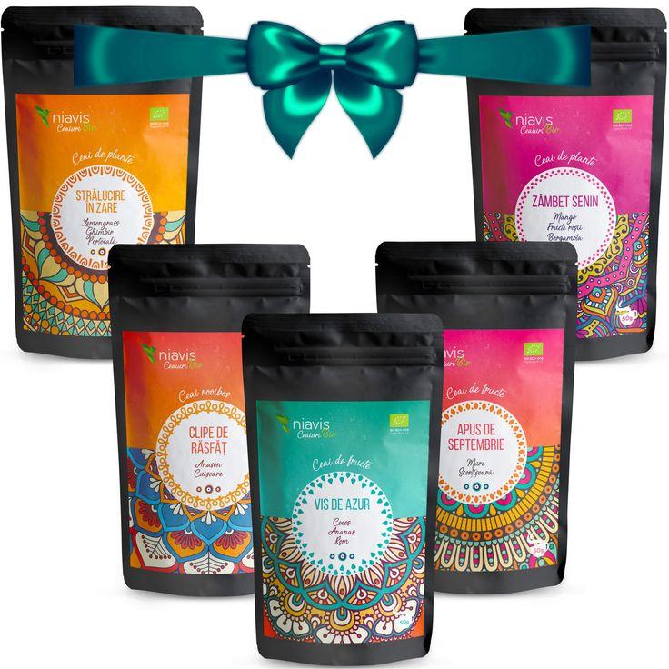 Pachet 5 Povești: 5 sortimente de ceai Bio în combinații și arome nemaiîntâlnite!