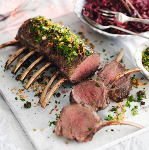 Roast Rack Of Venison With Cherry And Clementine Crumb - perfect if you don't fancy turkey again this year.