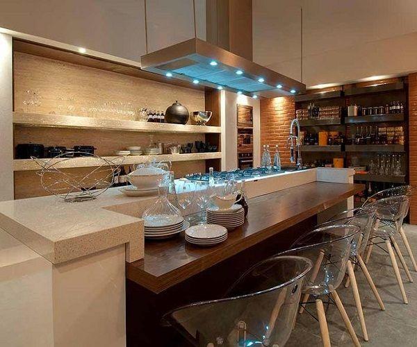 Decore Sua Mente, Seu Corpo E Seu Espaço: Cozinhas Gourmet Com Mesa Acoplada À Ilha
