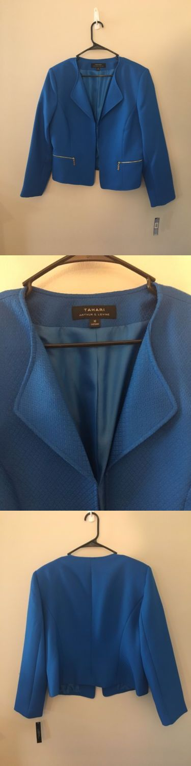 Suits and Blazers 63865: Tahari Arthur S Levine Size 16 Nwt Textured Royal Blue Blazer Career Dress -> BUY IT NOW ONLY: $34.99 on eBay!