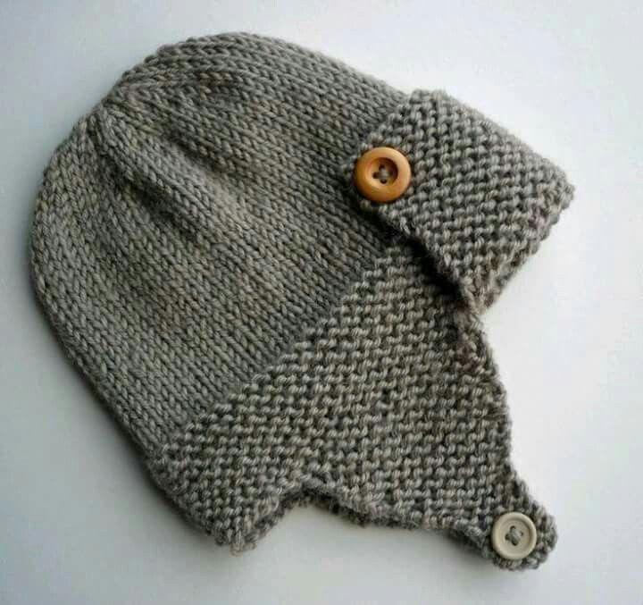 knit earflap aviator hat