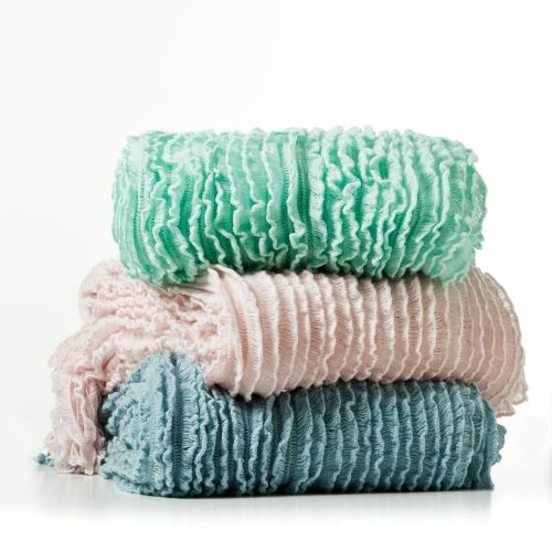 We love the amazing texture and volume that defines the Mercer + Reid Charlotte knitted throw.