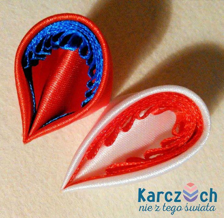 Kanzashi #16 - Quilling with ribbon