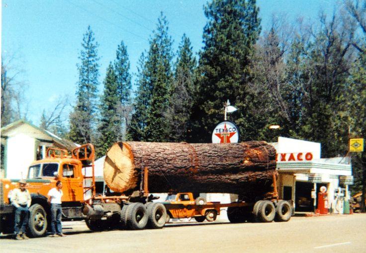 Lt mack one log load trees pinterest