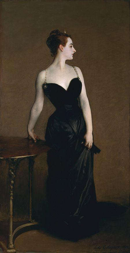 John Singer Sargent (American, 1856–1925). Madame X (Madame Pierre Gautreau), 1883–84. The Metropolitan Museum of Art, New York. Arthur Hoppock Hearn Fund, 1916 (16.53) #noses #Connections