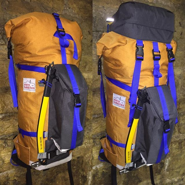 A custom 55L pack for @dallaswglass heading to Choy Oyu next week. Can be used with or without the lid. It fairly burly but still just over 3 lbs. #madeincolorado #backpack #ouray #alpineclimbing #alpineluddites #mountaineering @internationalmountainguides @will_inthealpine @gally8 @nwalpinegear #iceclimbing @jottnar