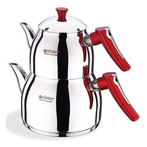 Gönen çelik meva aile boy çaydanlık takımı ürünü ...