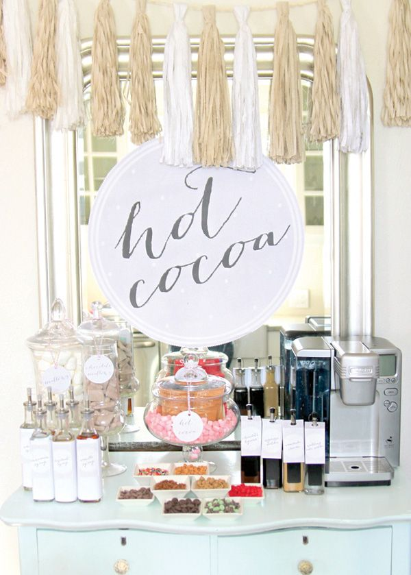 Cuddly Snow Bunny First Birthday Party // Hostess with the Mostess®