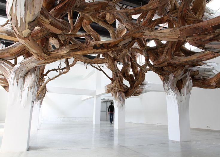Baitogogo by Henrique Oliveira at Palais de Tokyo