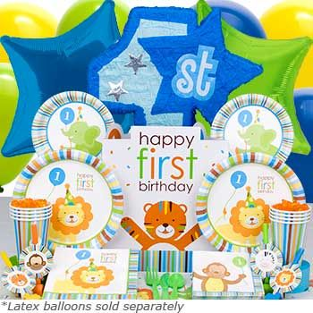 1st baby boy birthday party themes