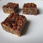 Chocolate Peanut Butter Rice Krispie Treats, Gluten-Free, Dairy-Free, Vegan