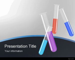Chemistry PowerPoint template background for science projects and chemicals