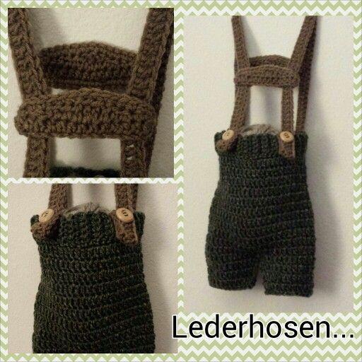 Newborn crochet Lederhosen!