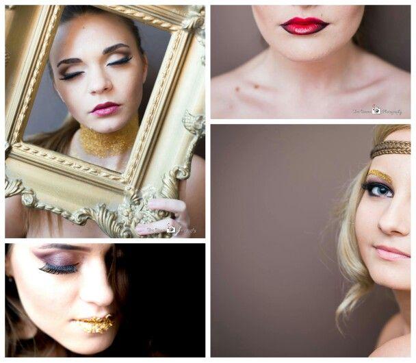 Fashion makeup .glitter makeup