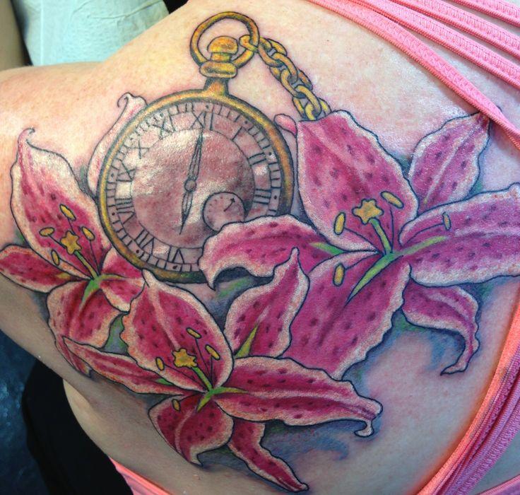 Stargazer lily tattoo tanja nixx blue dragon tatto san for Dragon lily tattoo