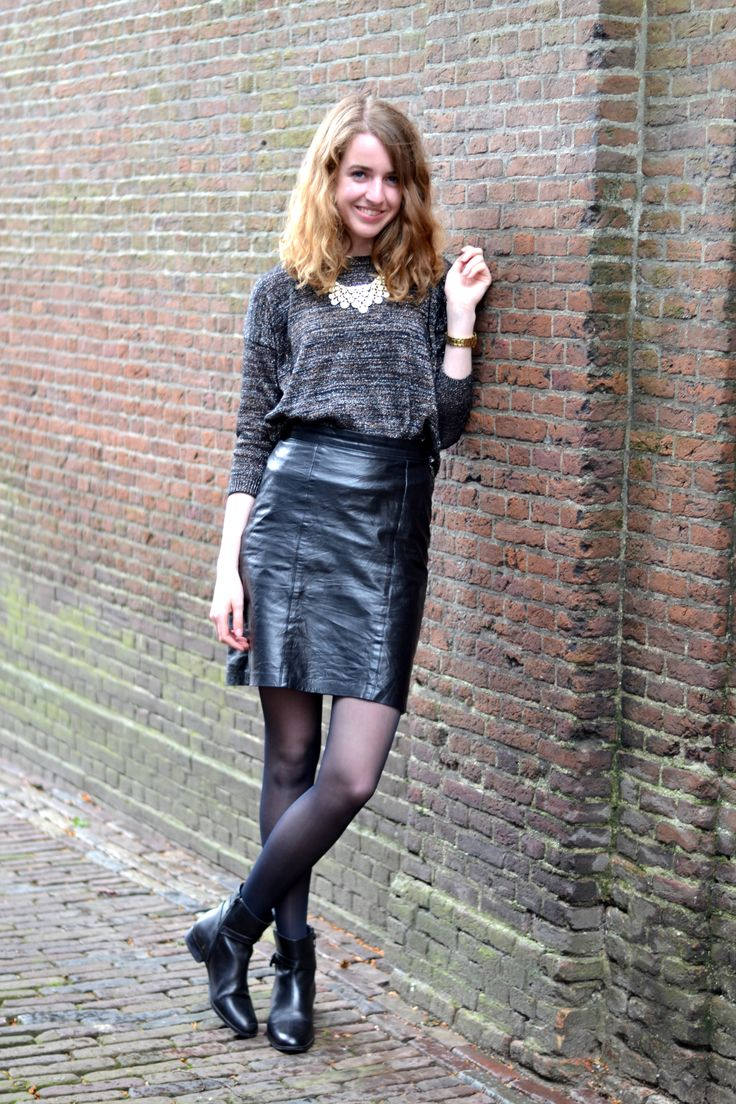 leather skirt from blogsite kalcci style