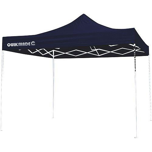 quikshade ultra compact 10x10 straight leg canopy blue top white frame quik shade canopy 10u0027 x 10u0027 midnight bluewhite provides 100