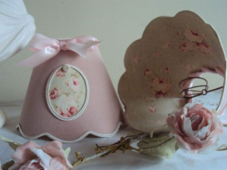 """Abat jour shabby pour chambre """"girly"""""""