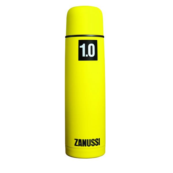 <b>Zanussi Yellow Vacuum Flask - </b>Yellow, soft-touch coated stainless steel Vacuum Flask