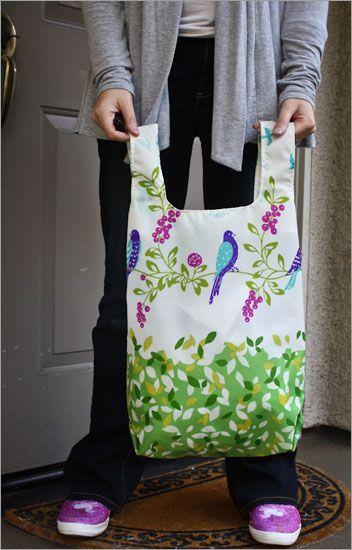 Nylon Eco Bag Tutorial  --    http://www.everkelly.com/2010/12/nylon-eco-bags-superbuzzy-everkelly-free-tutorial/
