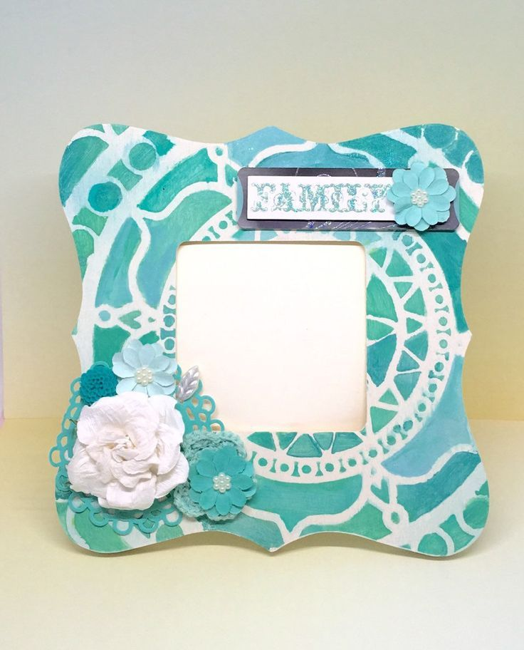 Turquoise Picture Frame – Family Picture Frame – Family Photo Frame – Photo Gift…