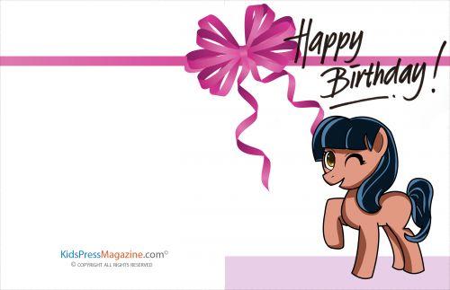 Birthday Cards #7  #birthday #card #pony