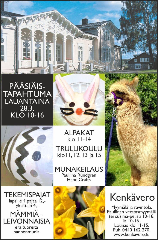 Kenkävero - Koko perheen pääsiäistapahtuma 28.3.