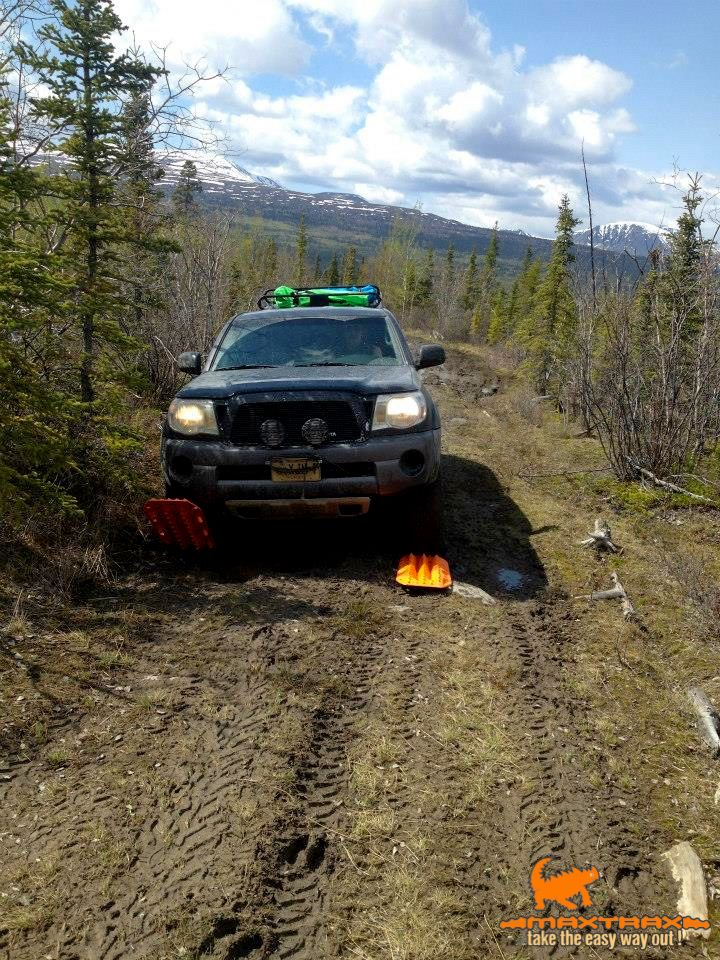 A MAXTRAX fan sent us in this photo, happy to take the easy way out in Yukon