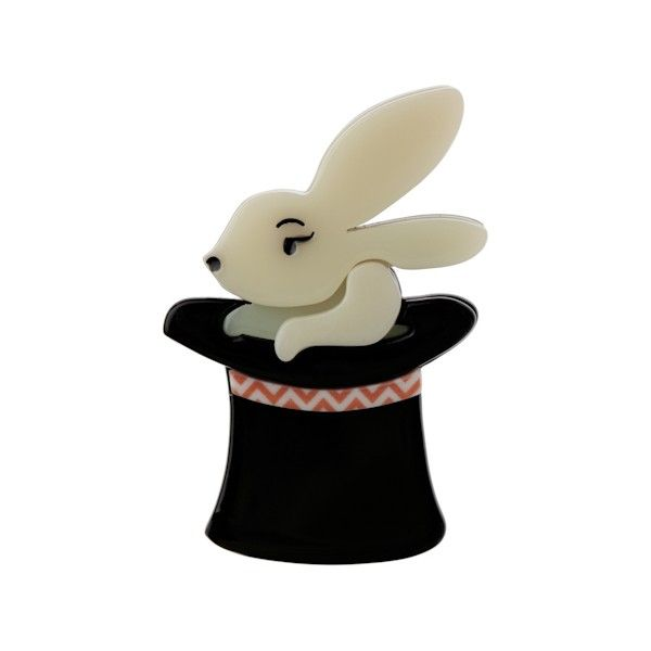 """Limted Edition Trixie Bunny Honey brooch in cream. """"Honey... it's the oldest trick in the magic book!"""""""