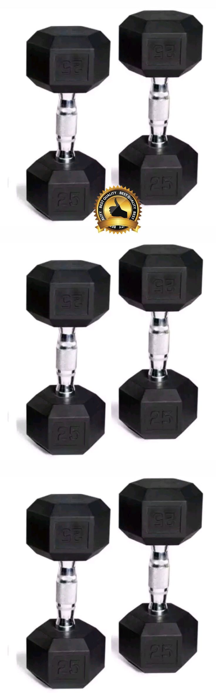 Dumbbells 137865: Cap Barbell Rubber-Coated Hex Dumbbells, Set Of 2, 25 Lb Each -> BUY IT NOW ONLY: $54 on eBay!
