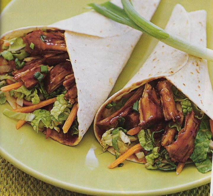 Moo Shu Pork Wraps - Moo Shu Pork Wraps make an exotic appetizer or party food. Combine rich fragrance and variety of textures. Savor every bite of this Chinese cuisine food.