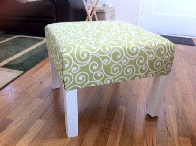 IKEA ottoman hack - Lack side table $10