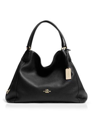 COACH Edie Shoulder Bag in Leather | Bloomingdale's